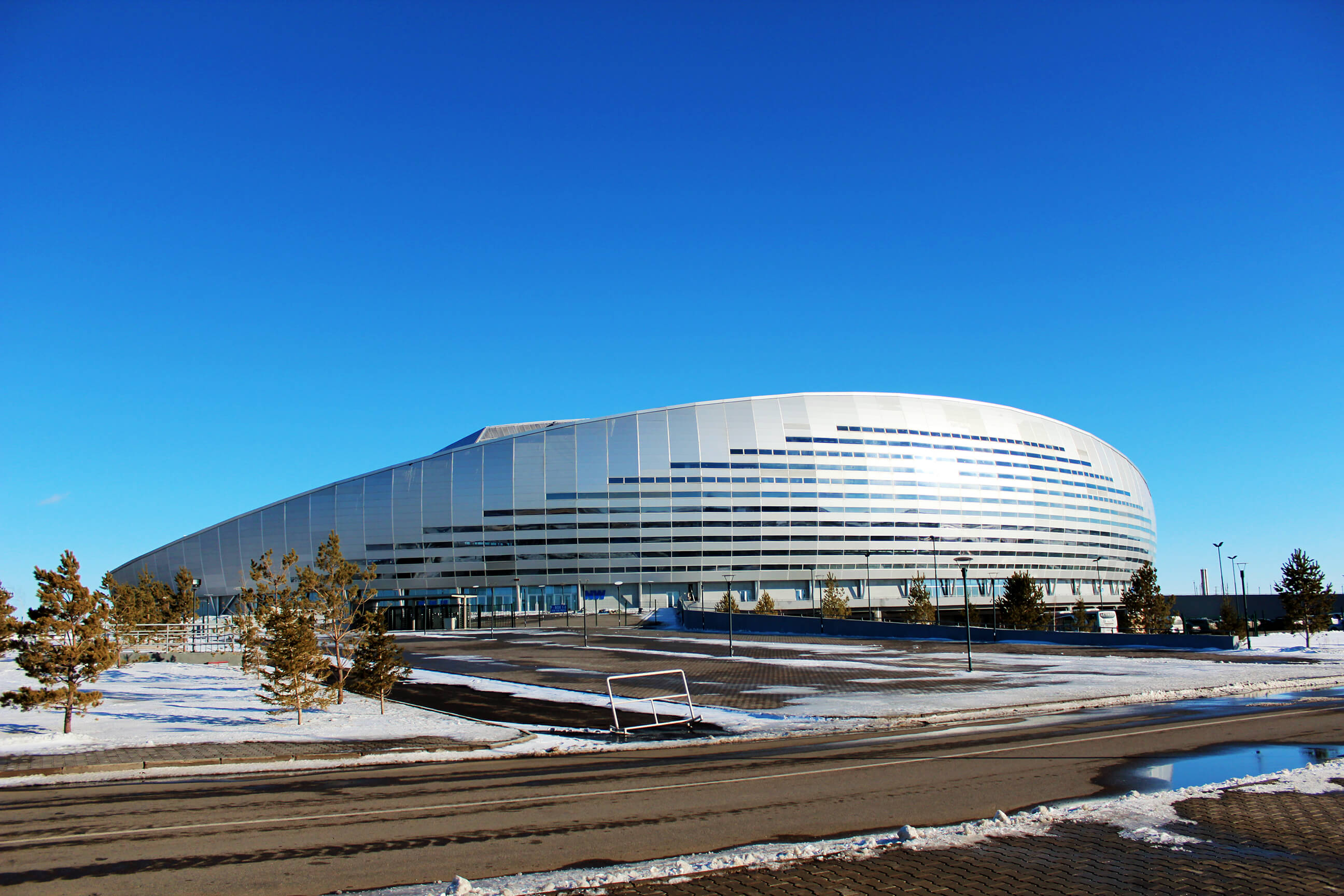 HyCOMB's aluminium honeycomb panels used for exterior cladding at Astana Area; Khazakstan's national football stadium.