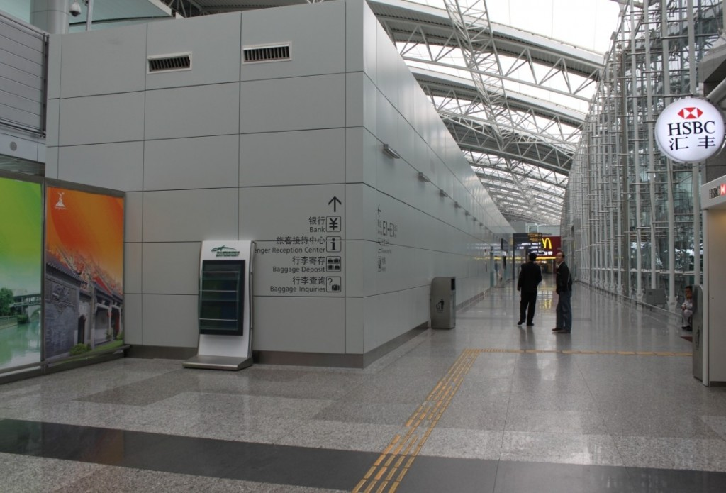 Guangzhou Baiyun International Airport's interior cladding, produced from HyCOMB's stone & aluminium honeycomb panels - 1
