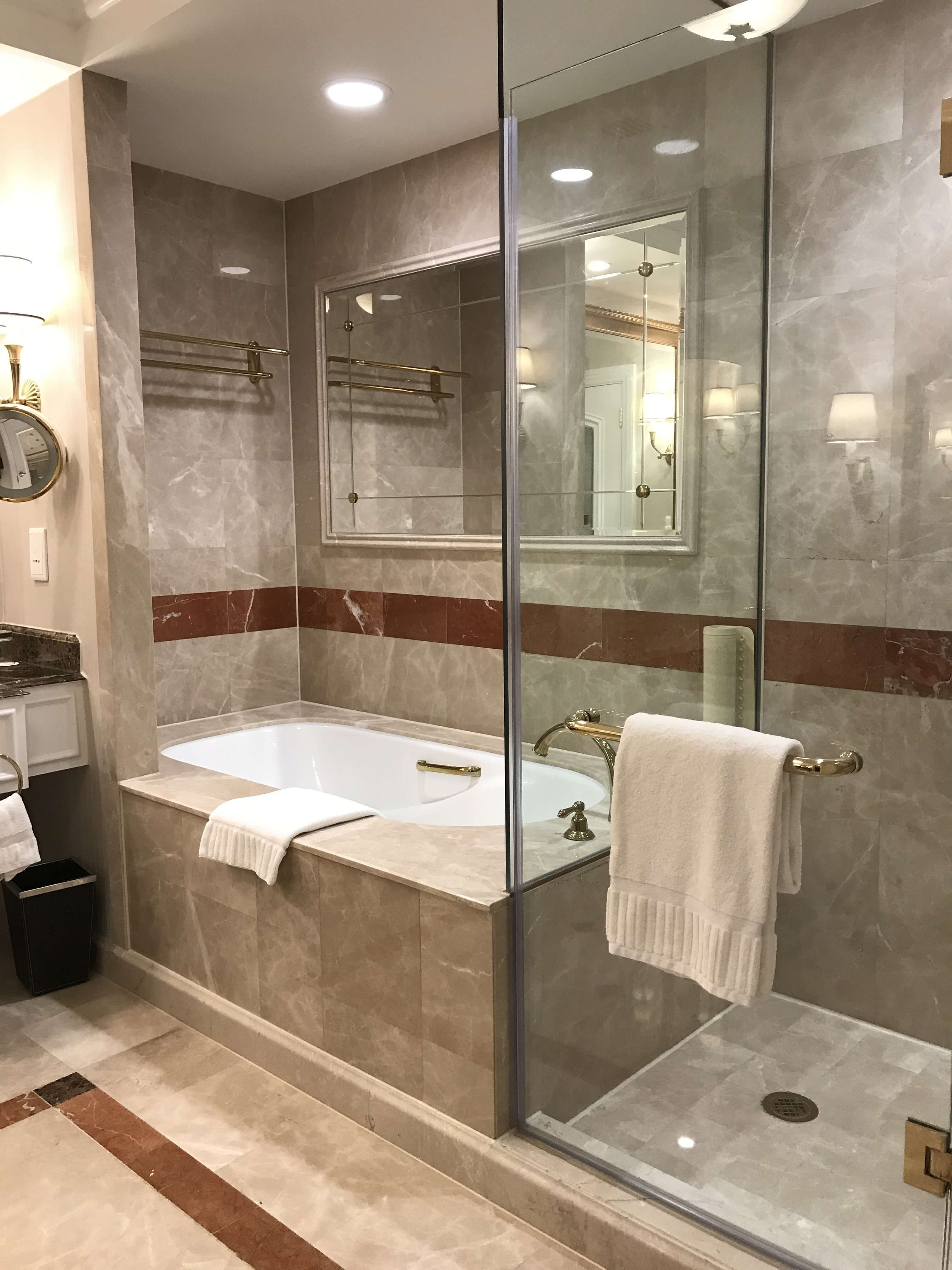 HyCOMB's stone honeycomb panels used as interior bathroom cladding at the Venetian Macao Hotel & Casino