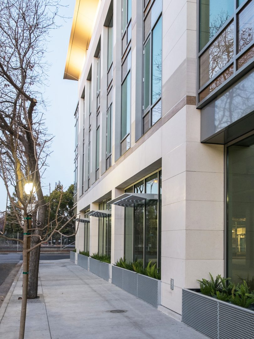 Hycomb's stone honeycomb cladding used for exterior cladding at 899 West Evelyn, Mountain View, California