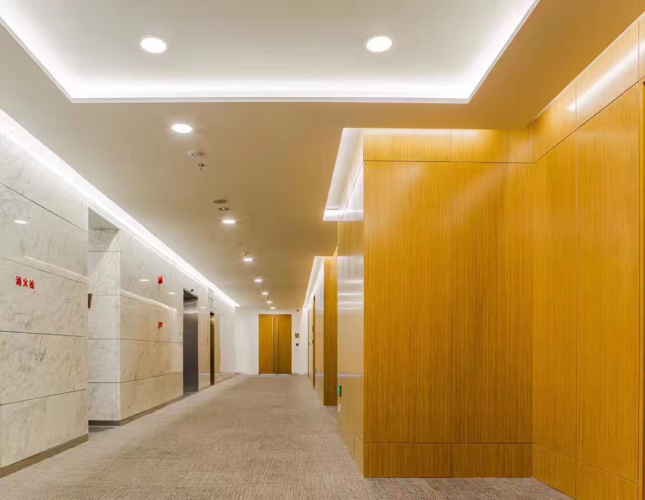 Chongqin Rural & Commercial Bank - interior stone honeycomb cladding - 3