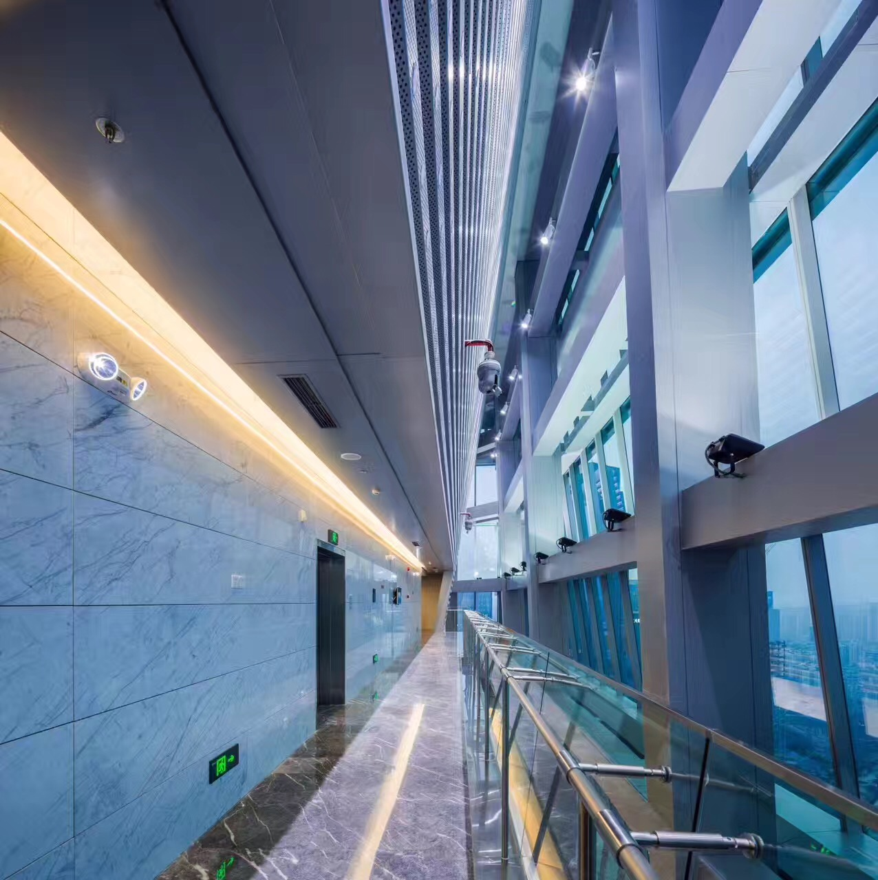 Chongqin Rural & Commercial Bank - interior stone honeycomb panels